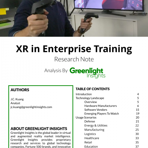 XR in Enterprise Training 2018