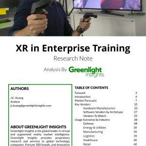 xR in Enterprise Training Report 2018