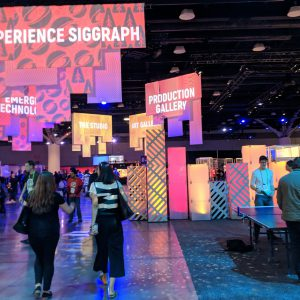 The Experience Hall at Siggraph 2018. (Photo by Alexis Macklin/Greenlight Insights)