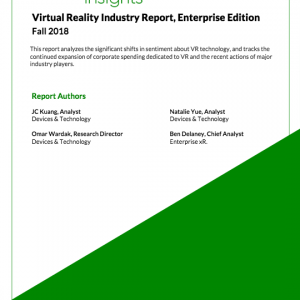 2018 Virtual Reality Industry Report, Fall Edition