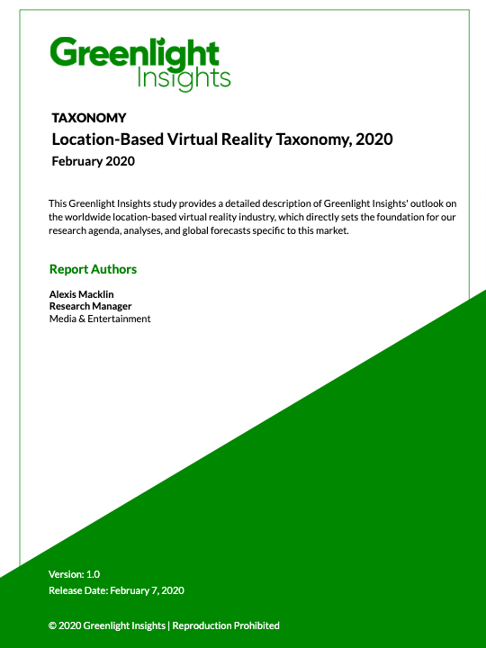 Location-Based Virtual Reality Taxonomy, 2020
